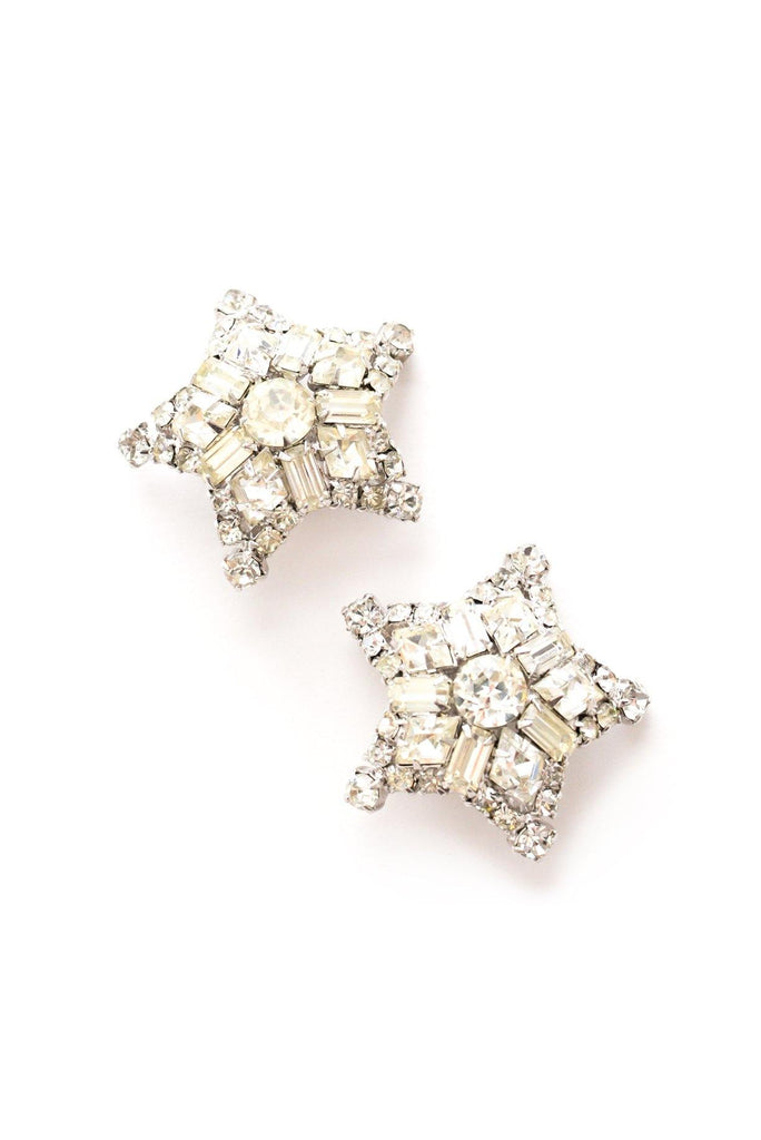 Rhinestone Star Clip-on Earrings