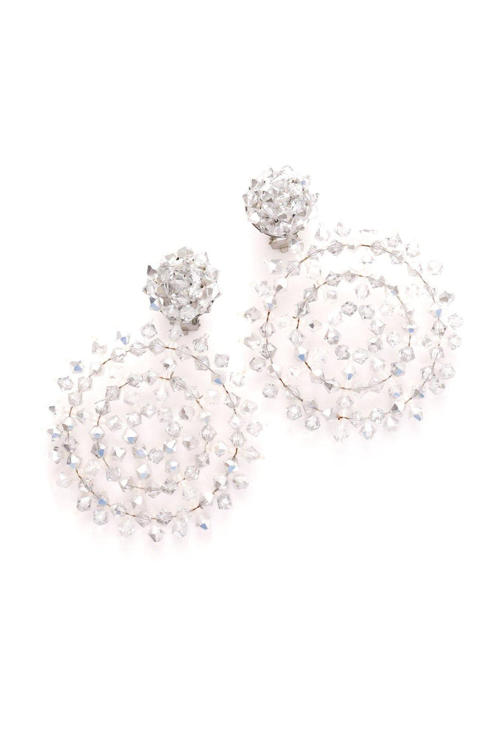Crystal Snowflake Clip-on Earrings