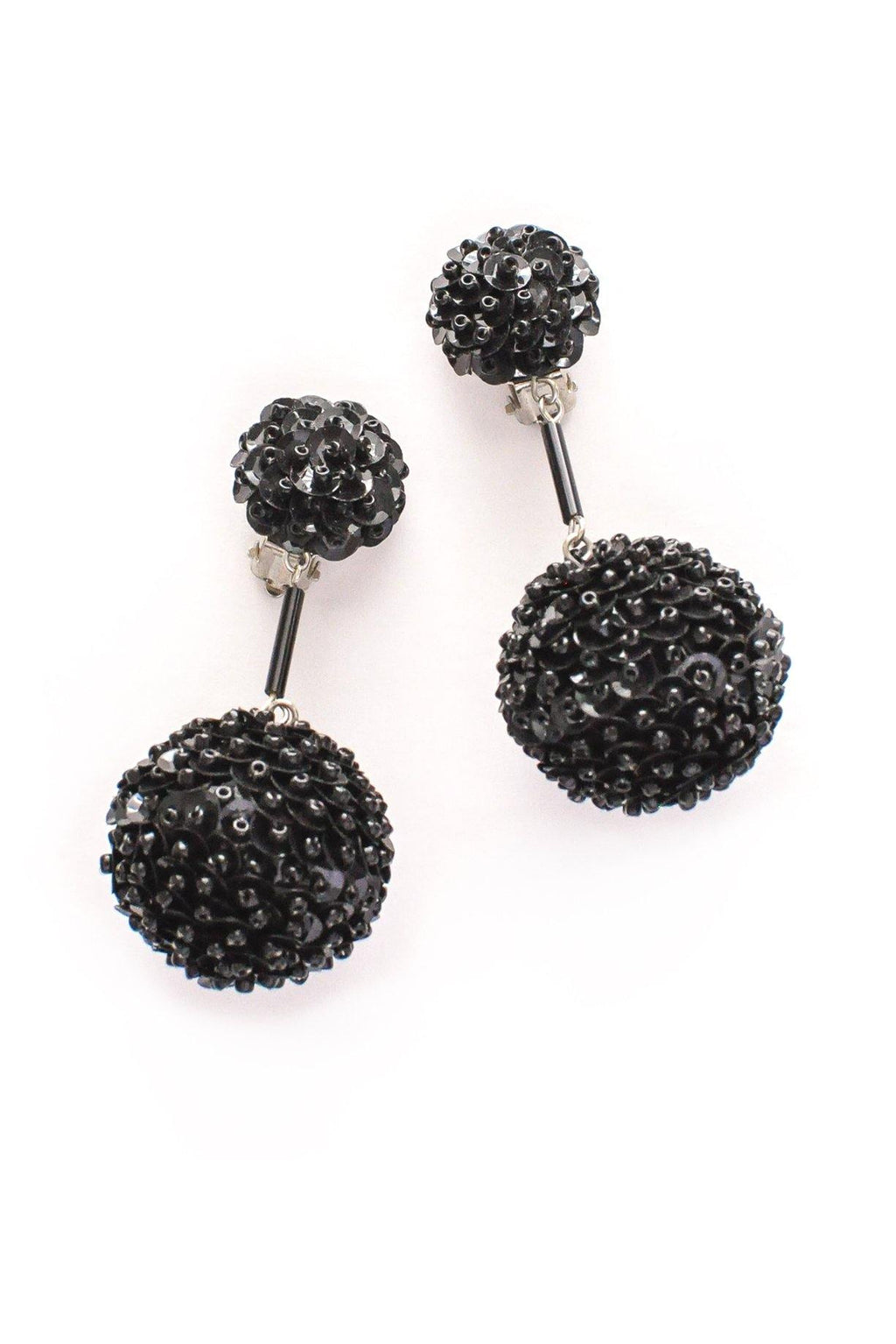 Sequin Ball Drop Clip-on Earrings