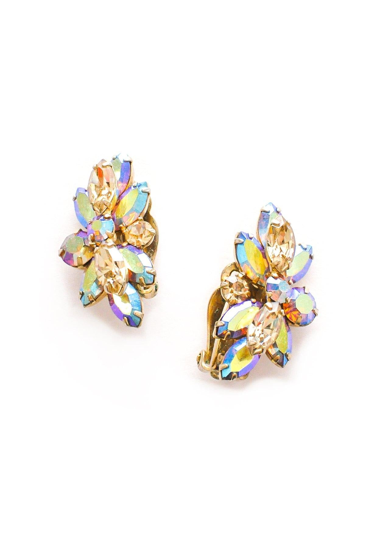 Iridescent Crawler Clip-on Earrings