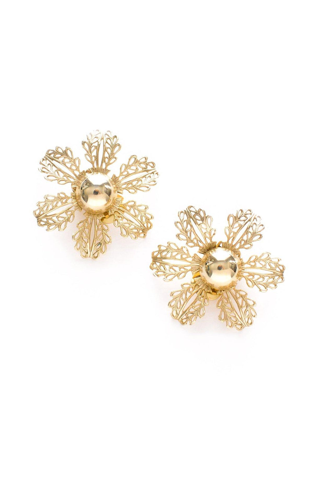 Statement Snowflake Clip-on Earrings