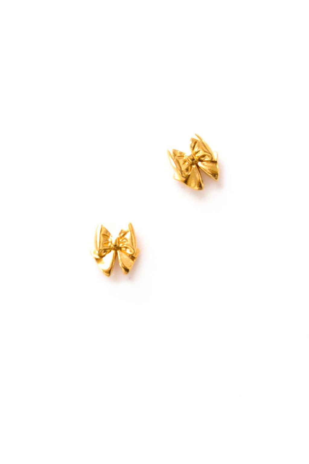 Mini Bow Pierced Earrings