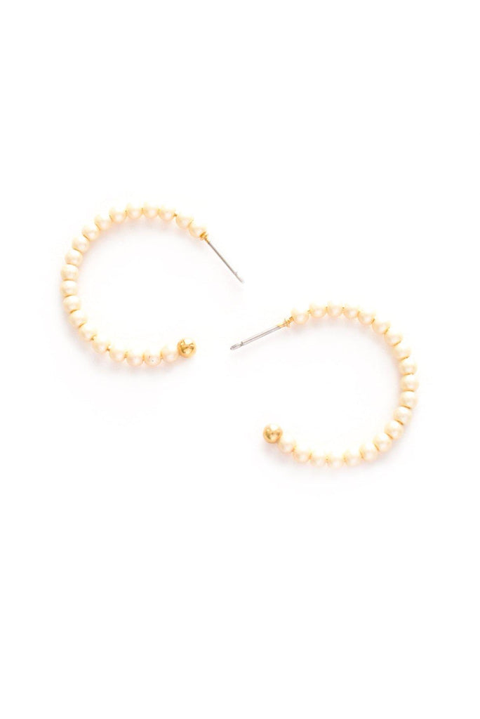 Pearl Hoop Pierced Earrings