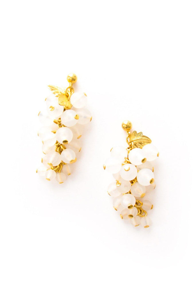 Cluster Drop Clip-on Earrings