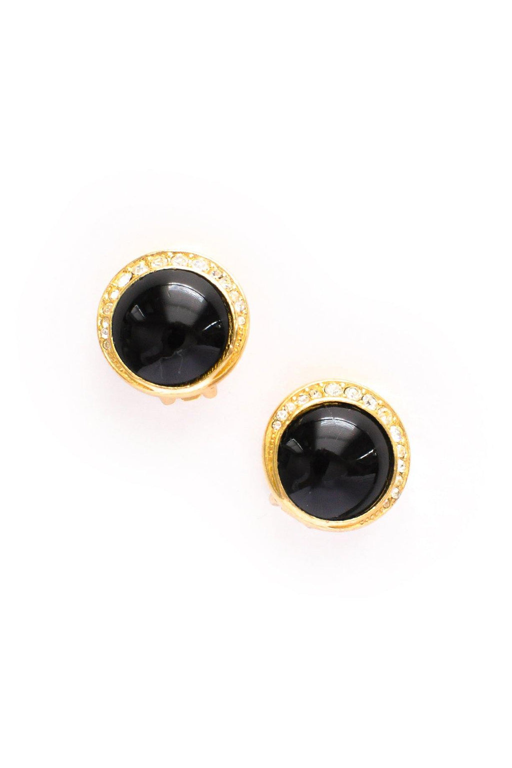 Round Gem Clip-on Earrings