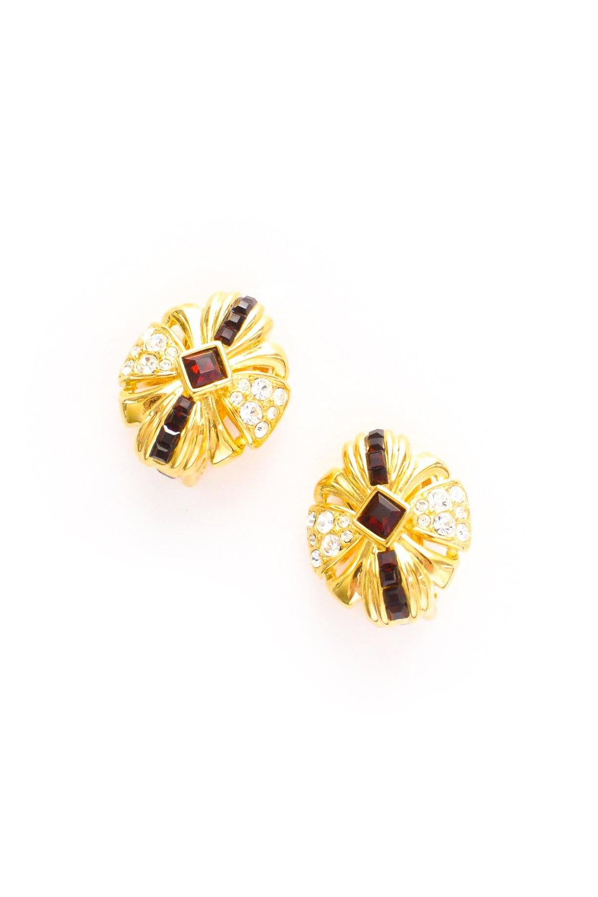 Ruby Gem Clip-on Earrings