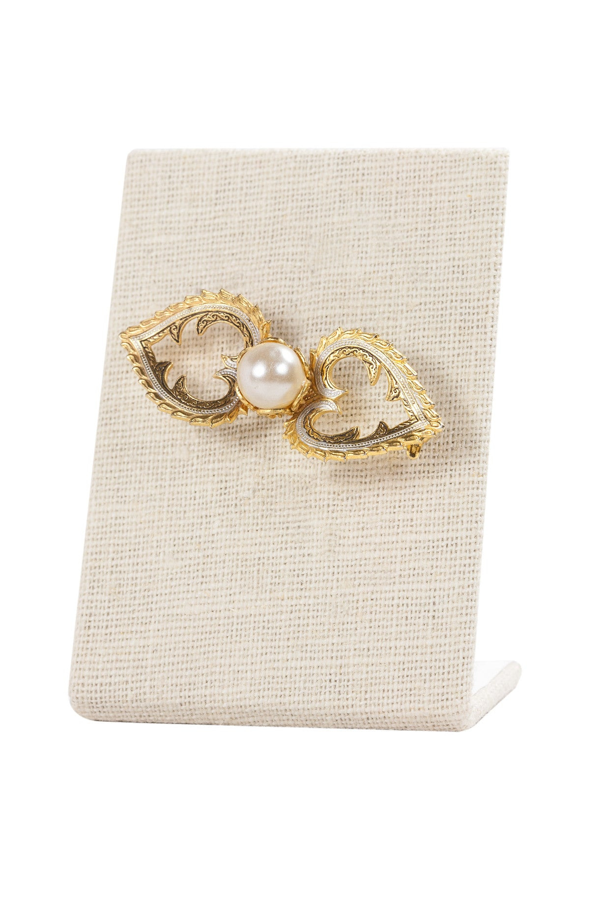50's__Spain__Pearl Bar Brooch