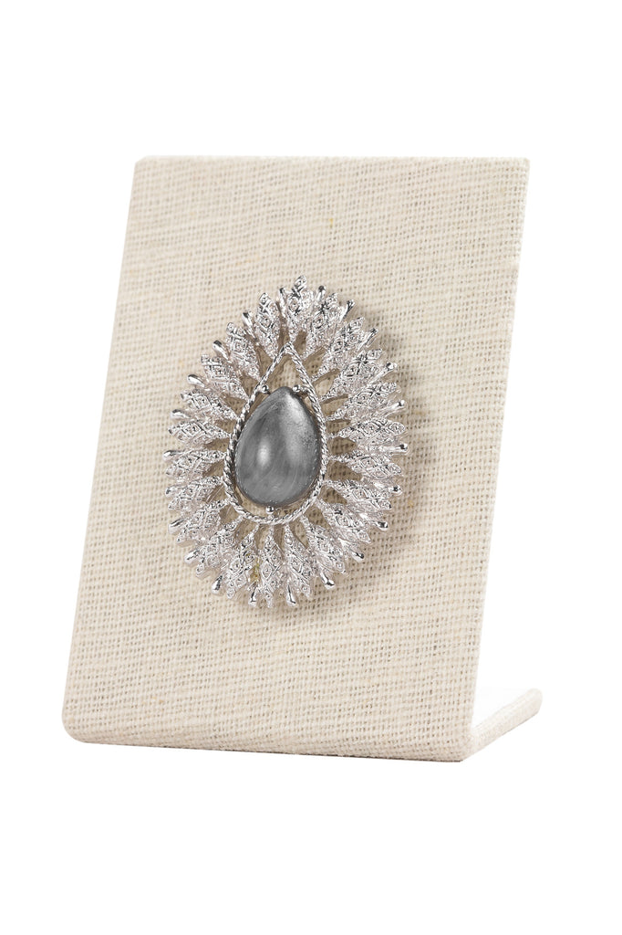 50's__Sarah Coventry__Silver Burst Brooch