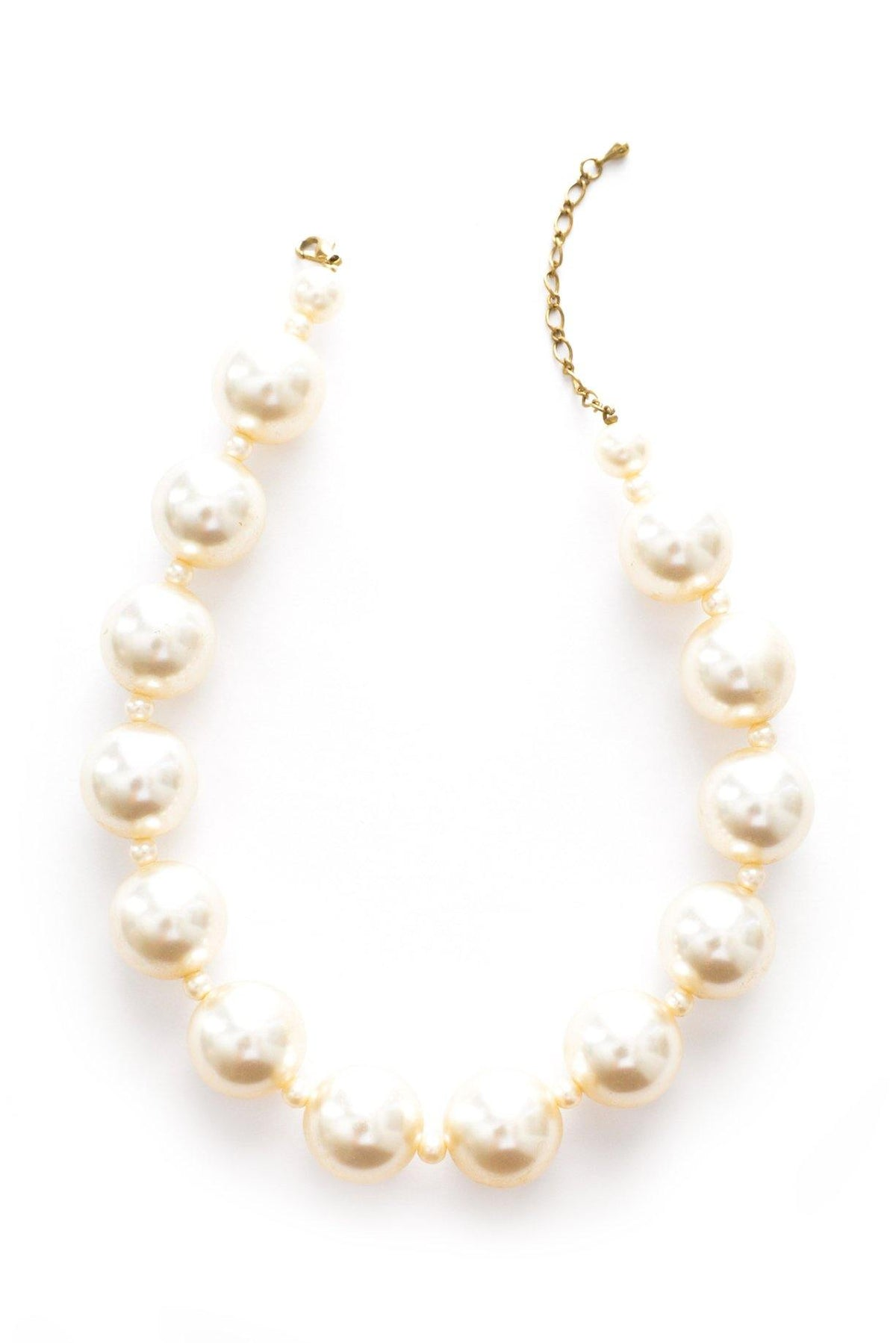 Pearl statement necklace from Sweet & Spark.