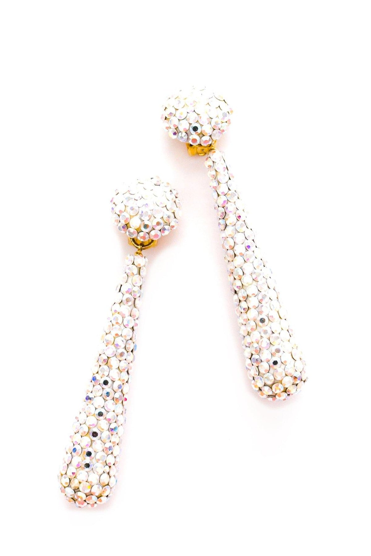 Rhinestone statement teardrop earrings.