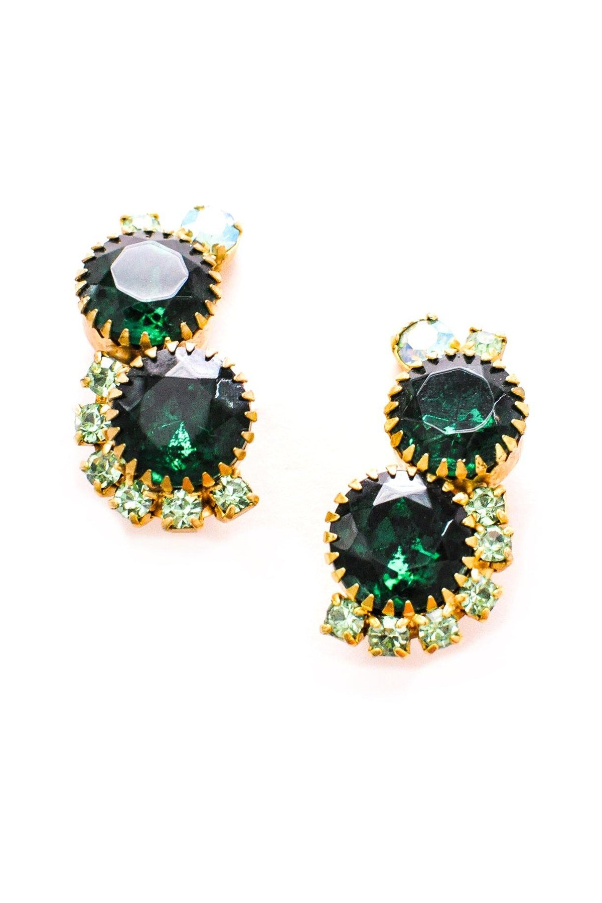 Rhinestone statement earrings from Sweet & Spark.