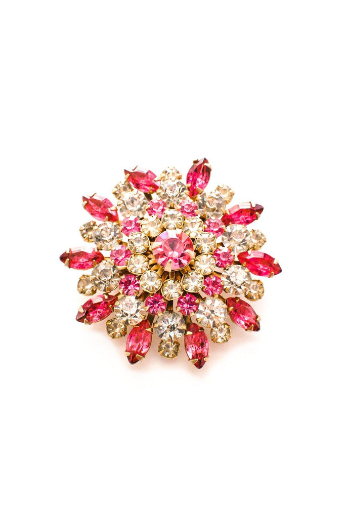 Raised Rhinestone Brooch