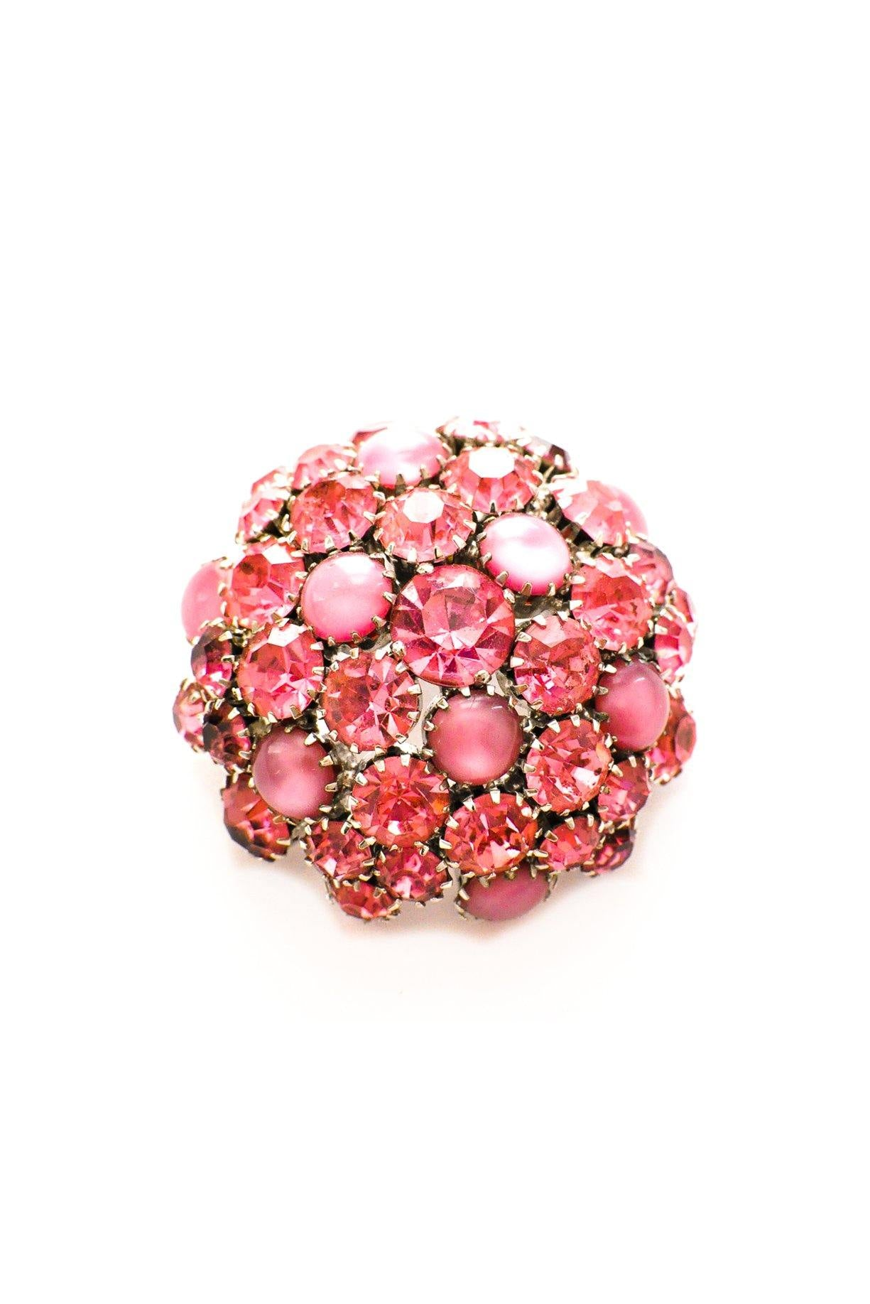 Pink Statement Dome Brooch