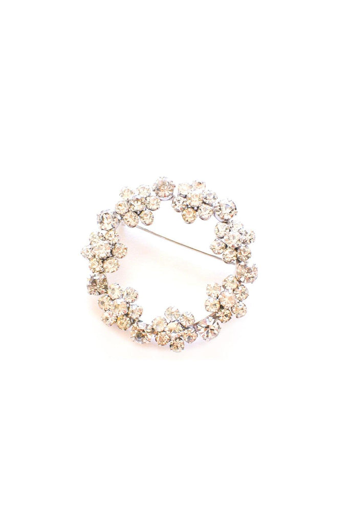 Rhinestone Circle Brooch