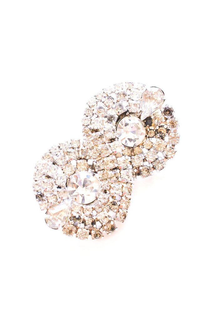 Twisted Rhinestone Brooch