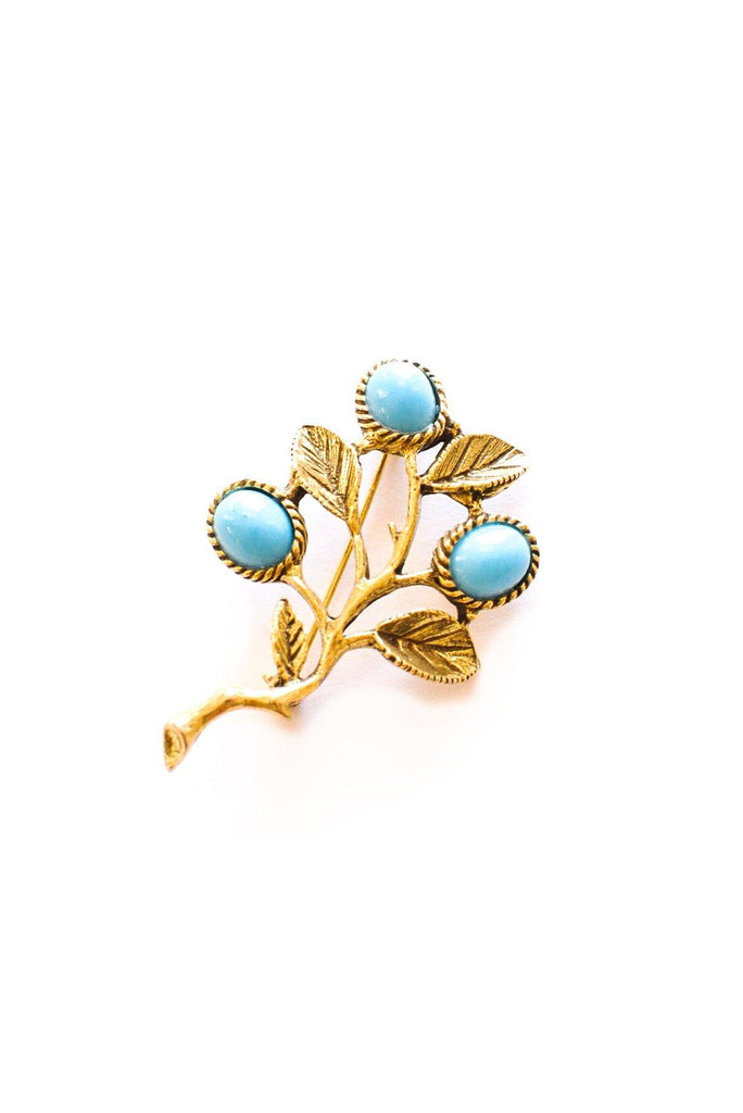 Turquoise Branches Brooch