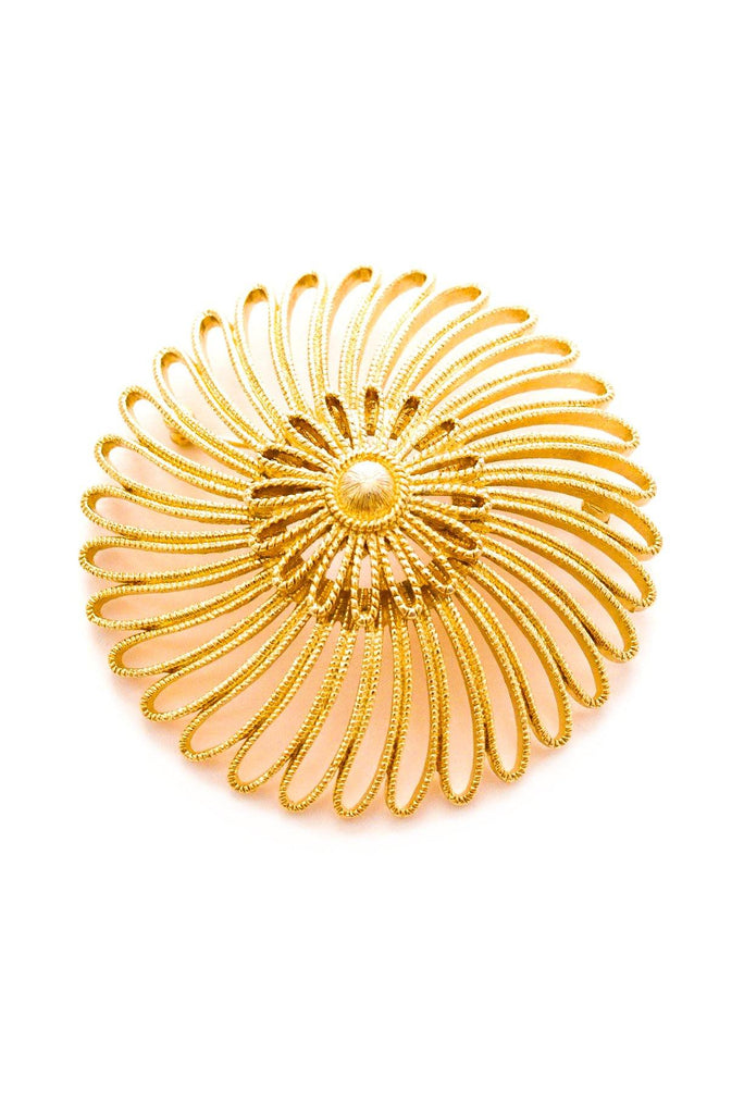Statement Sunburst Brooch