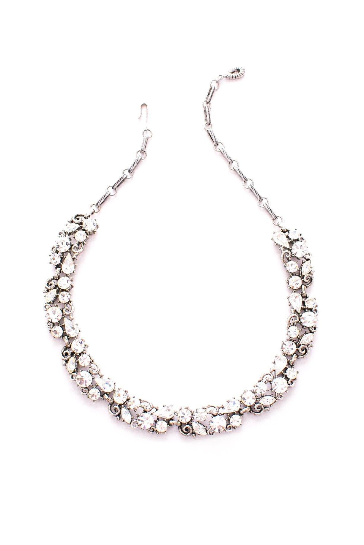 Lisner vintage rhinestone statement necklace from Sweet & Spark.