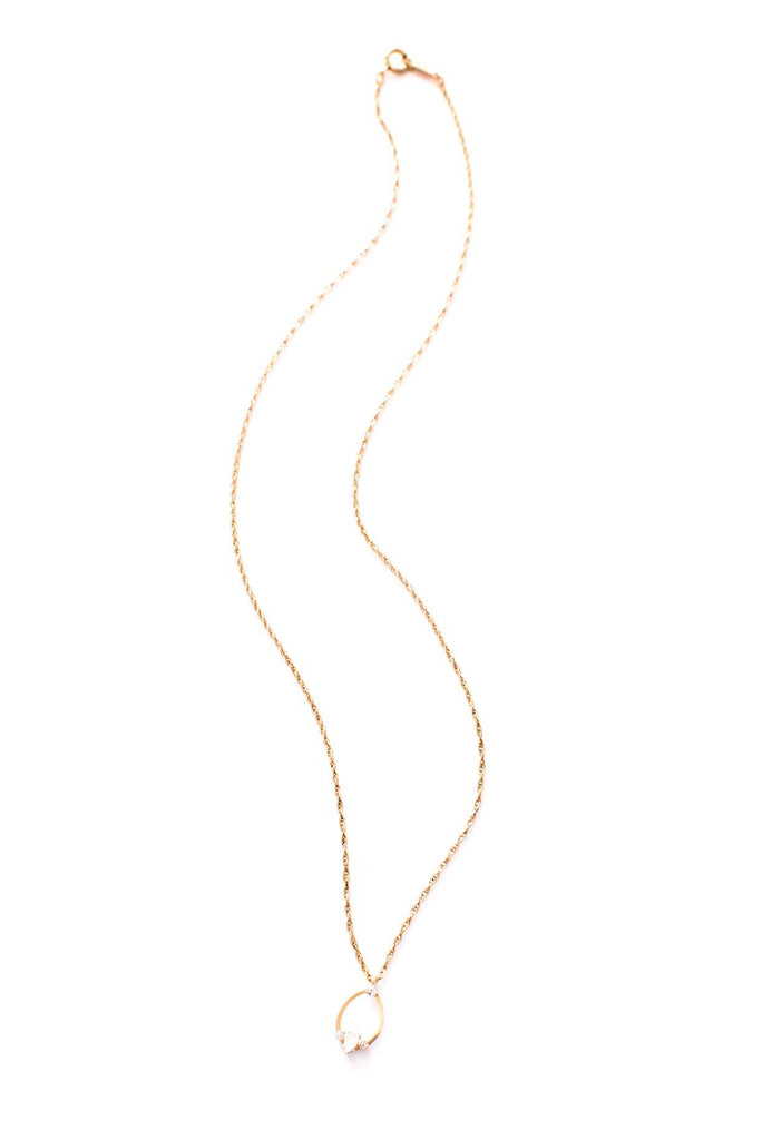 Dainty Loop Drop Necklace