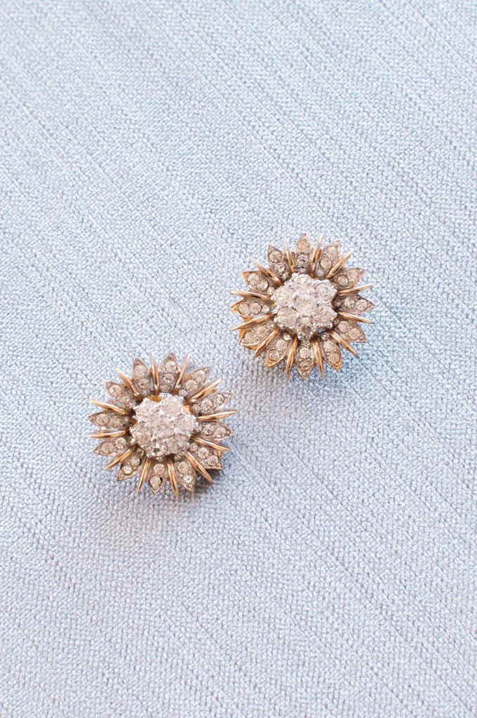 Sunburst Clip-on Earrings