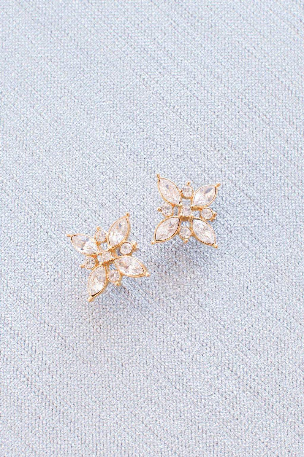 Rhinestone Diamond Pierced Earrings