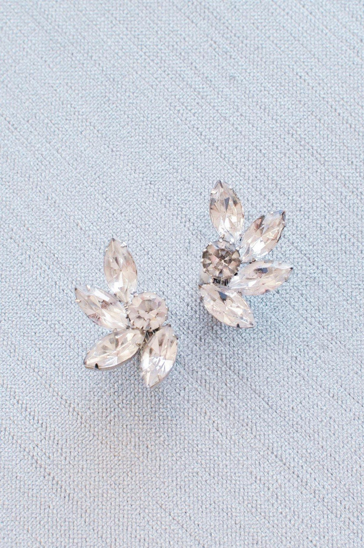 Vintage pretty rhinestone crawler earrings from Sweet & Spark Wedding Collection.