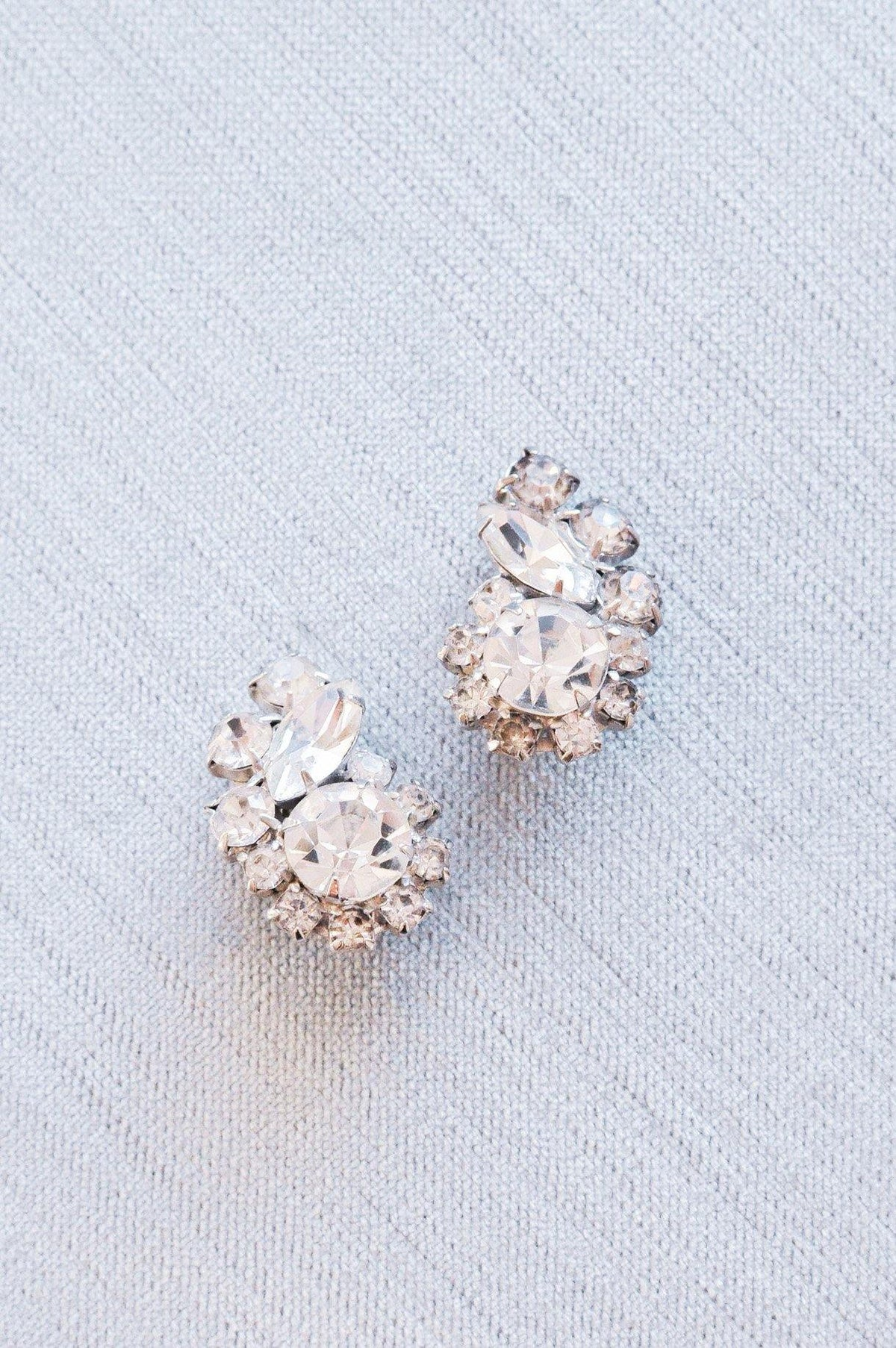 Vintage crawler bridal earrings from Sweet & Spark Wedding Collection.