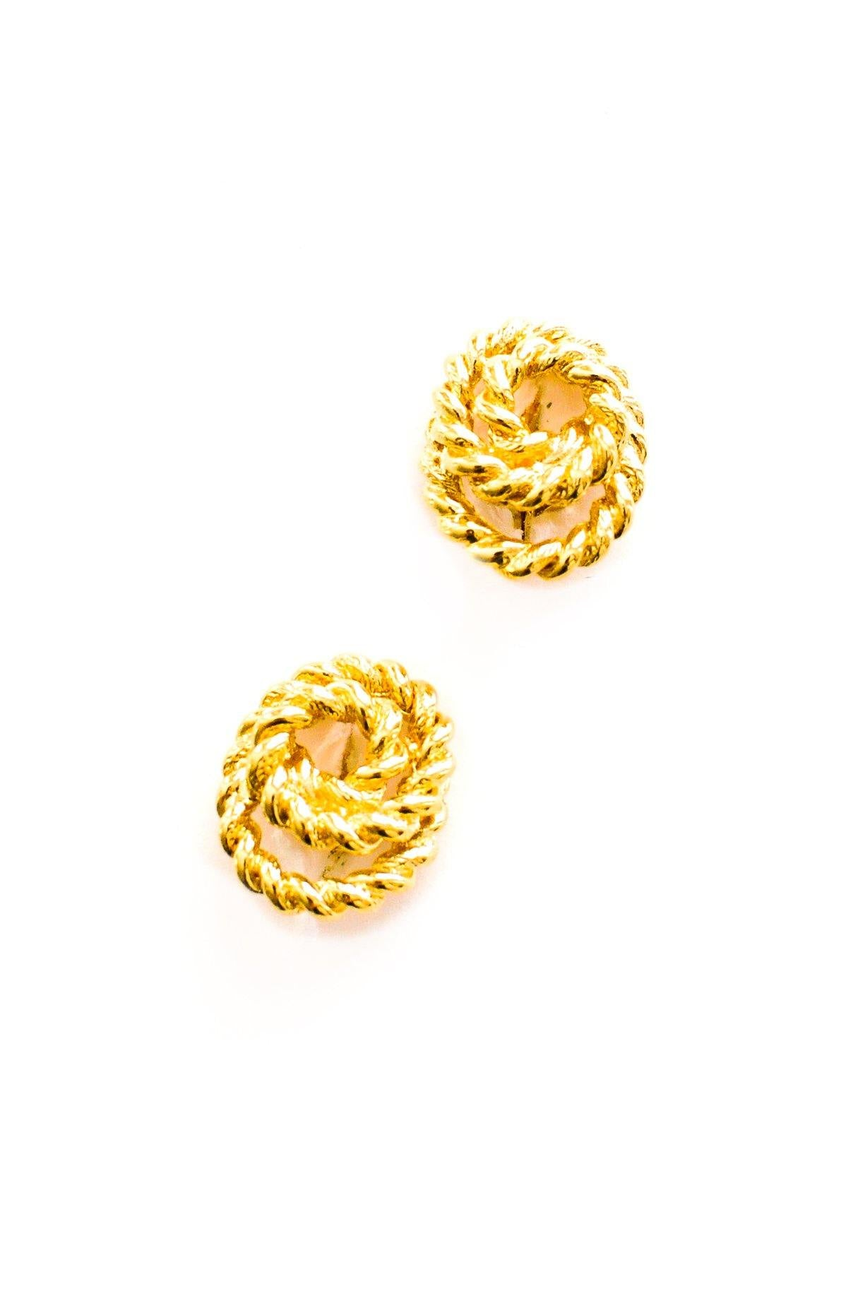 Rope Wrapped Clip-on Earrings
