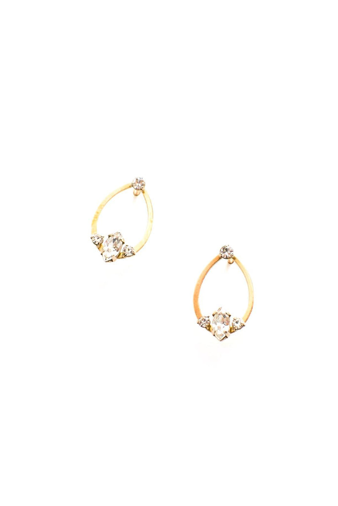 Dainty Teardrop Pierced Earrings