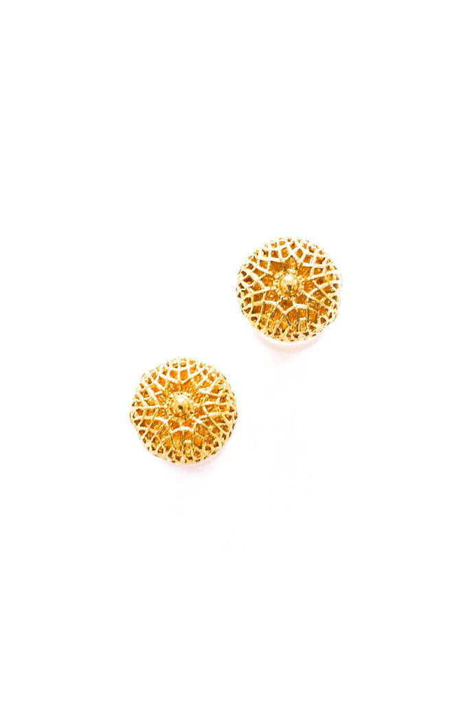 Filagree Dome Pierced Earrings
