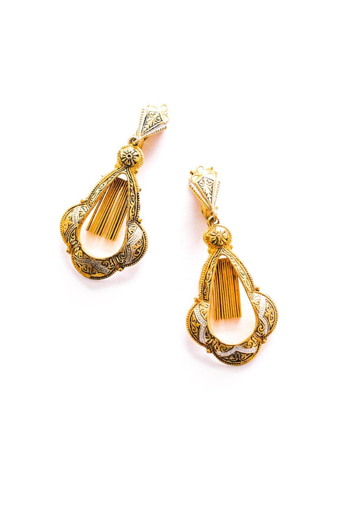Damascene Fringe Clip-on Earrings