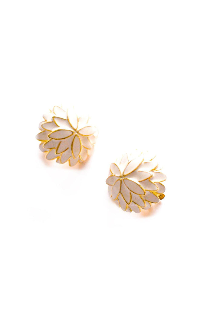 Floral Dome Clip-on Earrings
