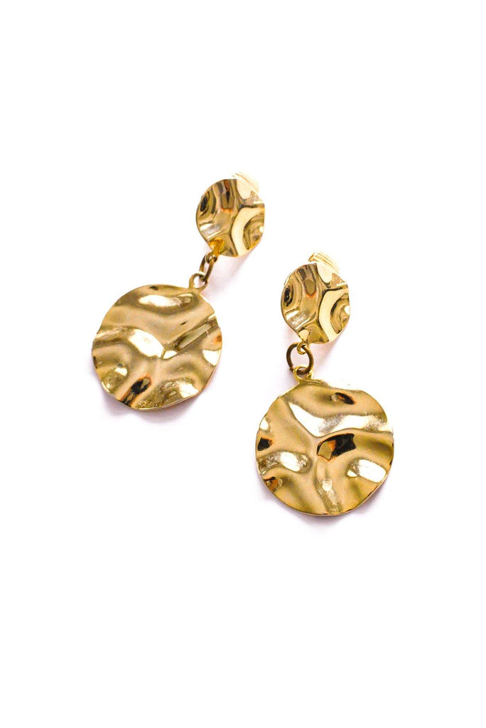 Hammered Circles Clip-on Earrings