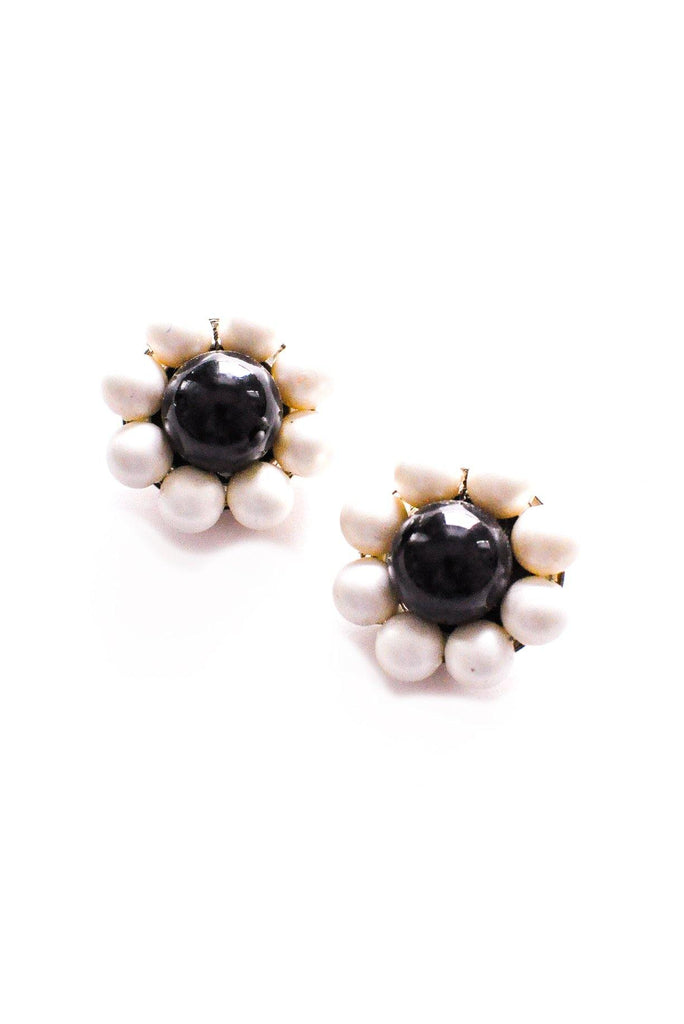 Pearl Wrapped Clip-on Earrings
