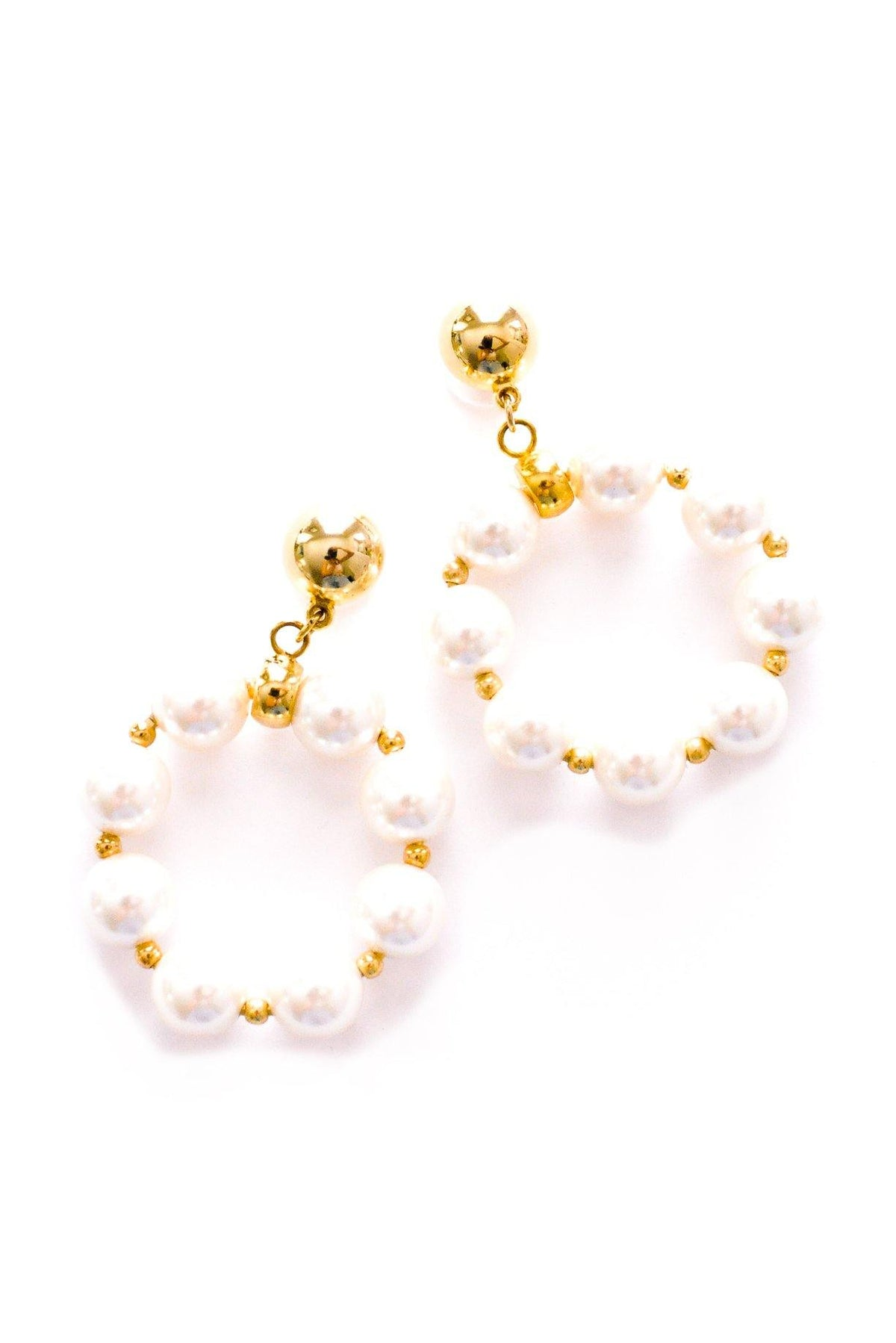 Vintage pearl statement hoop earrings from Sweet & Spark.