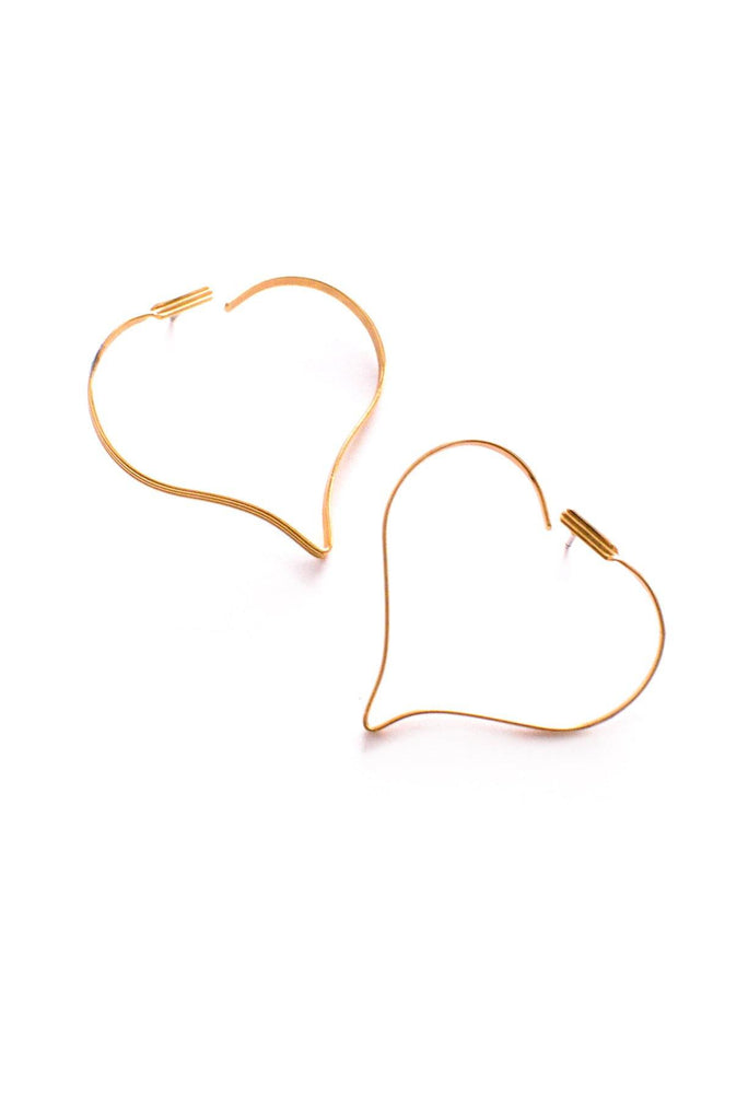 Heart Hoop Pierced Earrings