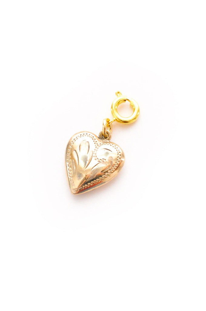 Etched Heart Charm