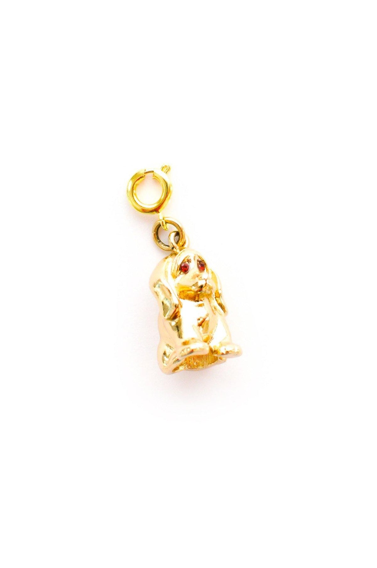 Vintage Monet puppy charm from Sweet & Spark.