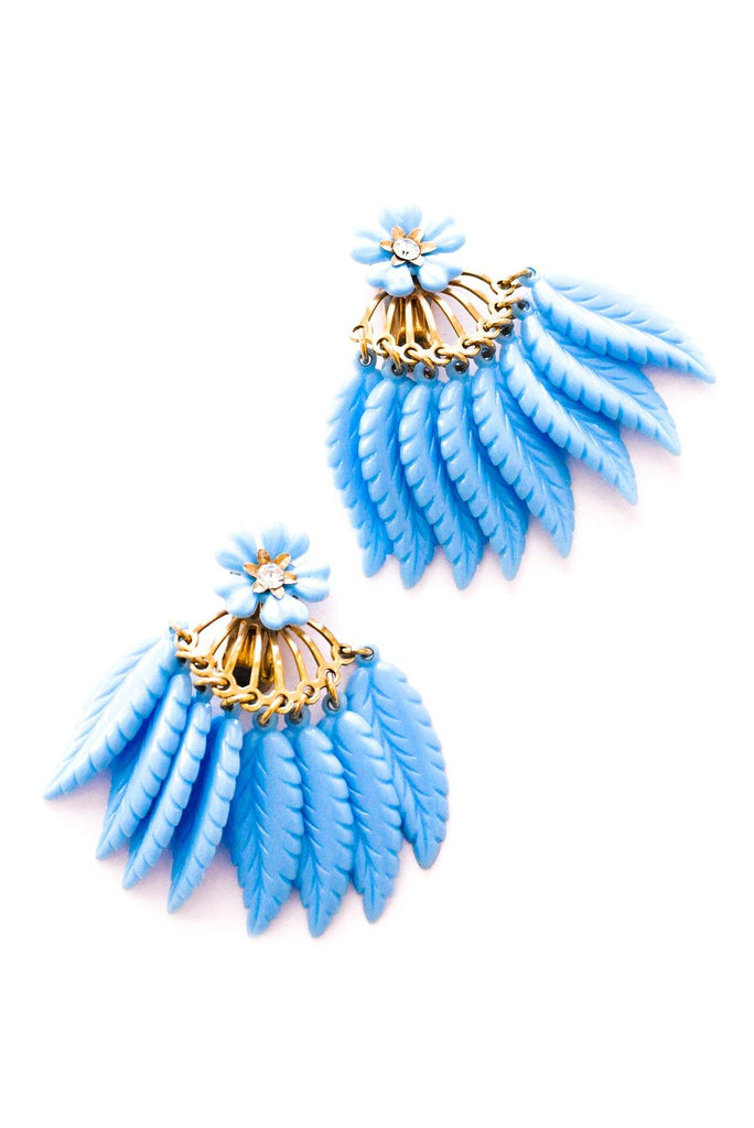 Feather Tassel Clip-on Earrings