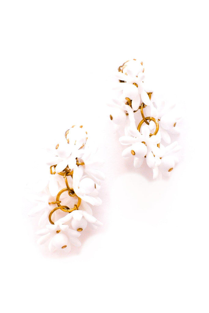 Floral Drop Clip-on Earrings