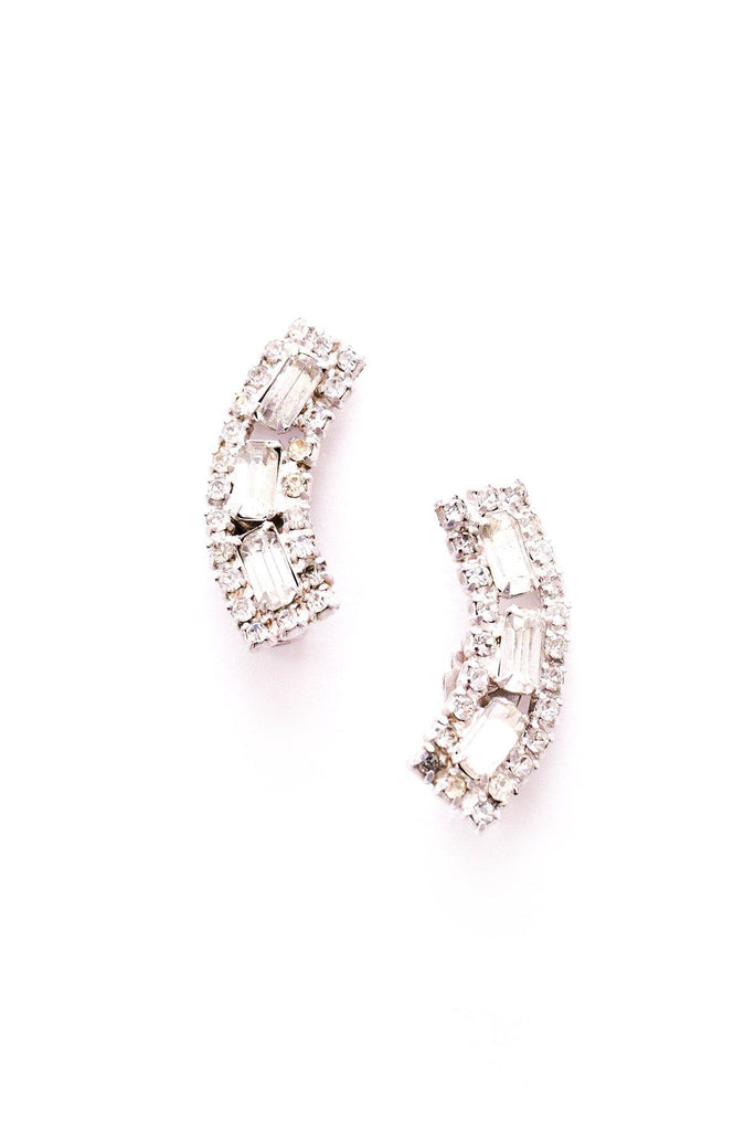 Rectangle Crawler Clip-on Earrings