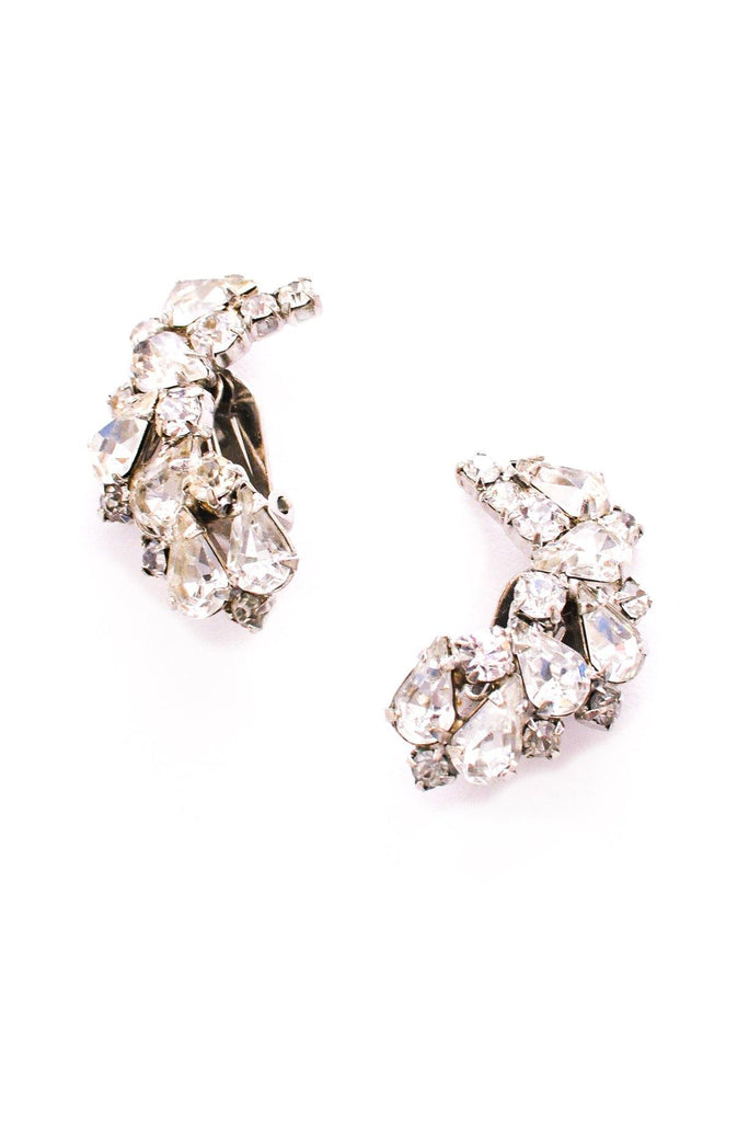 Curved Crawler Clip-on Earrings