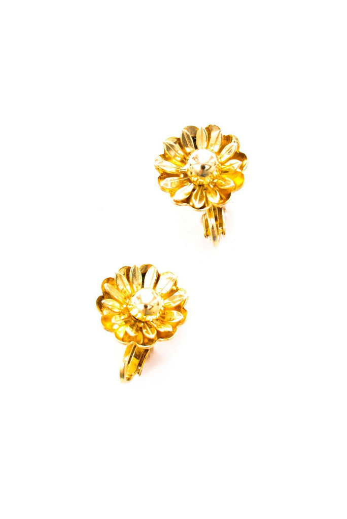 Mini Floral Clip-on Earrings