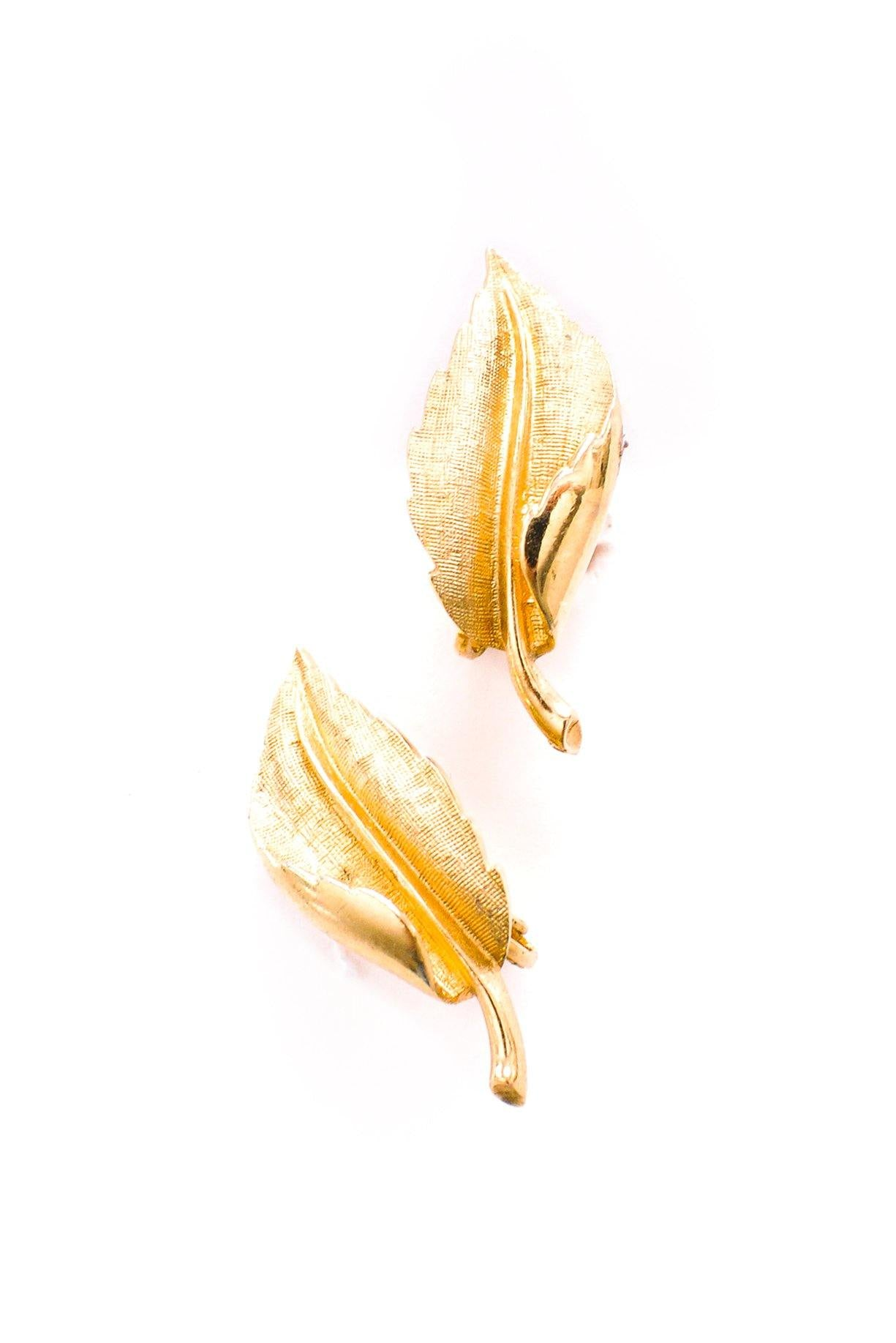 Leaf Crawler Clip-on Earrings