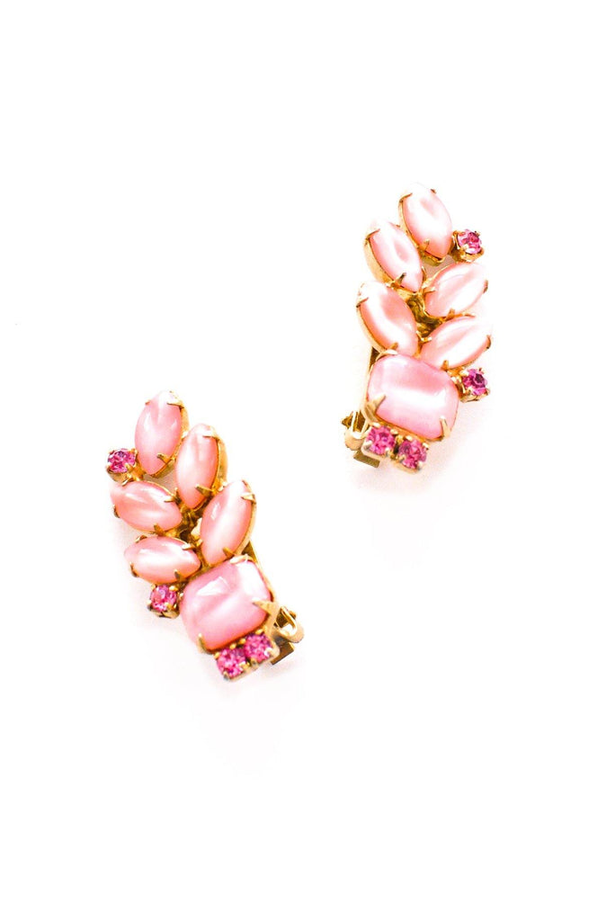 Pink Crawler Clip-on Earrings