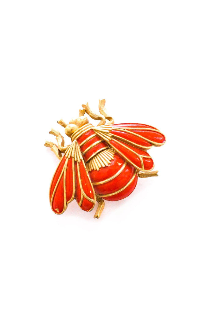 Red Bug Brooch
