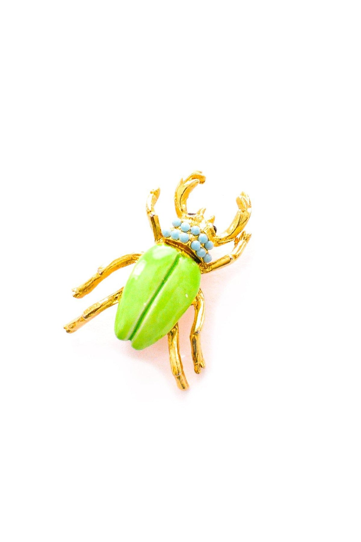 Mini vintage beetle brooch from Sweet & Spark.