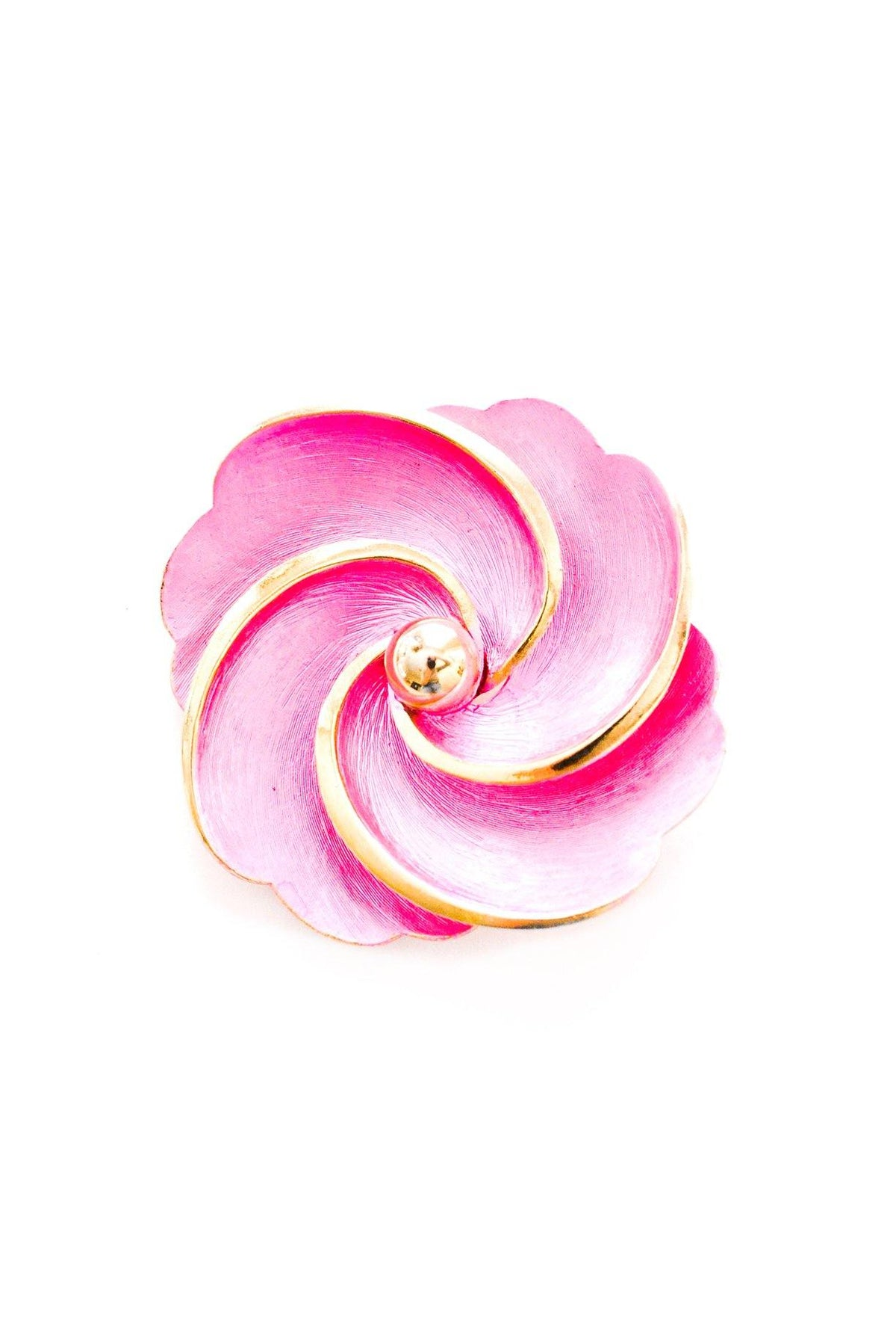 Vintage magenta pink floral swirl brooch from Sweet & Spark.