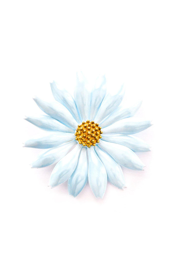 Blue Floral Brooch