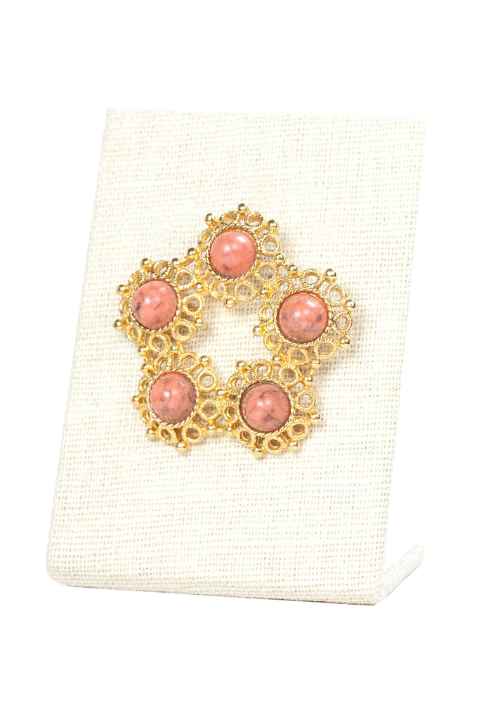70's__Sarah Coventry__Coral Brooch